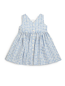 Ralph Lauren Baby Girls Gingham Poplin Dress & Bloomer