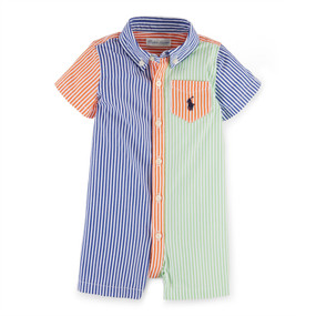 Ralph Lauren Baby Boys Fun Cotton Poplin Shortall