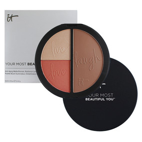 it Cosmetics Your Most Beautiful You, Live/Love/Laugh, Anti-Aging Blush/Bronzer/Luminizer Palette