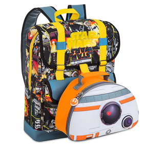 Disney Store BB-8 Star Wars: The Force Awakens Backpack & Lunch Tote Set