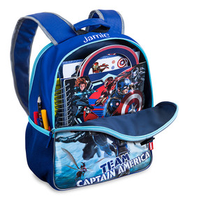 Disney Store Captain America: Civil War Reversible Backpack & Lunch Tote Set