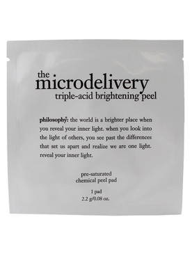 Philosophy The Microdelivery Triple-Acid Brightening Peel Pre-Saturated Chemical Pad (1 Pad) 2.2g/0.08oz