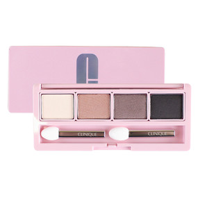 Clinique All About Shadow Quad Eyeshadow Palette - Teddy Bear/Sunset Glow/Hazy/Blue, 0.16oz/4.8g