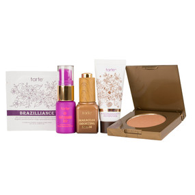 Tarte Play It Safe Summer Essentials Set: Brazilliance, Maracuja Bronzing Serum, Tarteguard, Amazonian Bronzer