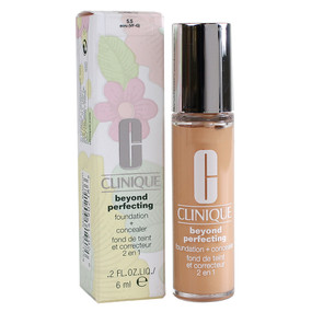 Clinique Beyond Perfecting Foundation + Concealer Makeup, Travel Size 0.2oz/6ml