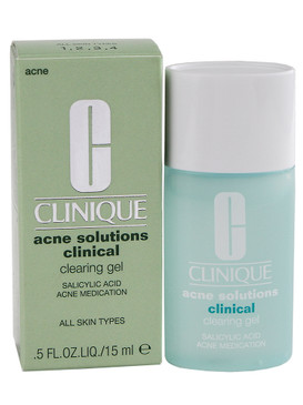 Clinique Acne Solutions Clinical Clearing Gel, Travel Size 0.5oz/15ml