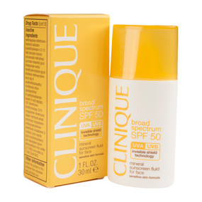 Clinique Broad Spectrum SPF 50 Mineral Sunscreen Fluid For Face 1oz/30ml
