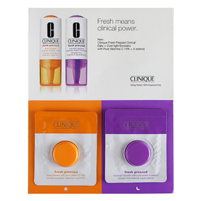 Clinique Fresh Pressed Clinical Daily & Overnight Boosters with Pure Vitamins C 10% + A (Retinol), SAMPLE CARD