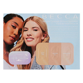 Becca Ultimate Coverage 24hr Foundation (Buff/Cashew/Alabaster) + Light Priming Filter SAMPLE CARD