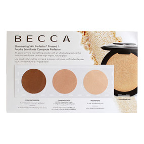 Becca Shimmering Skin Perfector Pressed Highlighter - Chocolate Geode, Champagne Pop, Moonstone, SAMPLE CARD
