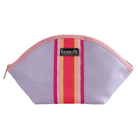 Benefit Purple Makeup Cosmetics Travel Bag