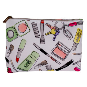 "Clinique ""Makeup Printed"" Cosmetic Makeup Travel Bag"