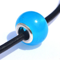 Milky Blue Glass Bead