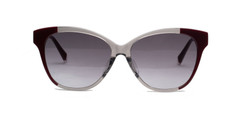 C2 Maroon and Crystal Clear w/ Gray Gradient CR39 Lenses
