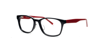 C1 Black / Red Temples Front