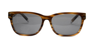 C2 Brown Woodgrain/Light Blue Marble w/ Solid Gray CR39 Lenses