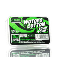 Wotofo - Profile RDA Agleted Organic Cotton (10 Pack)