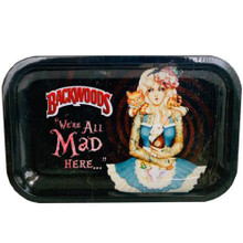 Small Rolling Tray Backwoods - Alice in Wonderland