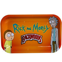 Small Rolling Tray Backwoods - Rick and Morty Basic