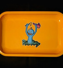 Small Rolling Tray - Rick and Morty Mr. Meeseeks Orange Tray