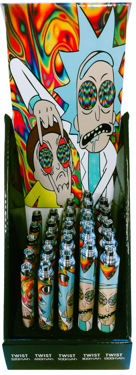 Trippy Rick Themed Variable Voltage Battery + USB Charger