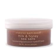 Cuccio Milk & Honey Sea Salts for hands & body - 19.5 oz.