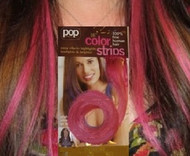 "Put on Pieces by HairUWear ""Breast Cancer Pink"" Clip-in Color Strips"