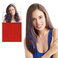 Put on Piece by HairUWear Clip-in Color Strip - Red