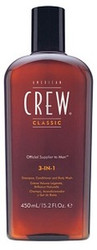 American Crew 3 in 1 Shampoo, Conditioner and Body Wash 15.2 oz