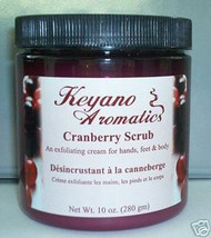 Keyano Aromatics Cranberry Exfoliating Body Scrub 10 oz