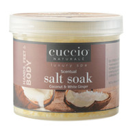 Cuccio Naturale Coconut & White Ginger Scentual Salt Soak 29oz