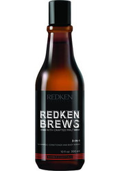 Redken Brews 3-in-1 Shampoo, Conditioner & Body Wash 10oz