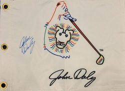 Autographed Pin Flag