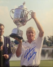 Autographed 8 X 10 Picture *PGA Hoisting Trophy*