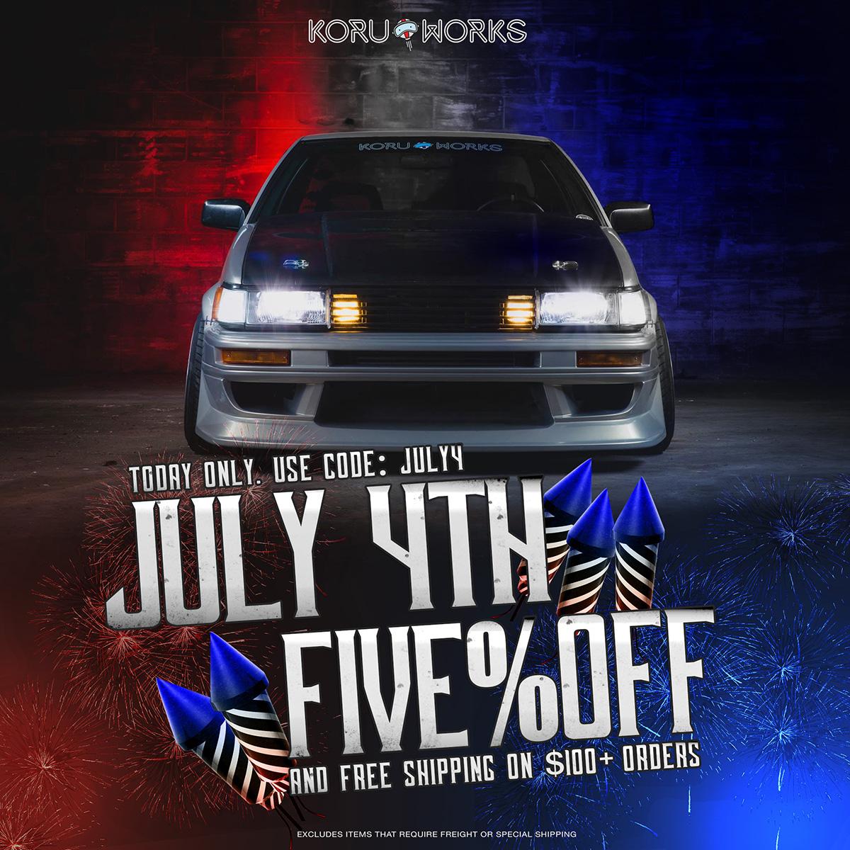 KoruWorks July 4th Sale