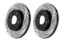 StopTech 03-04 Infiniti G35 / 03-05 G35X / 03-05 Nissan 350Z Cross Drilled Left Rear Rotor