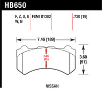 Hawk 09-11 Nissan GT-R Performance Ceramic Street Front Brake Pads