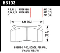 Hawk 2003-2006 Dodge Viper SRT-10 HPS 5.0 Front Brake Pads