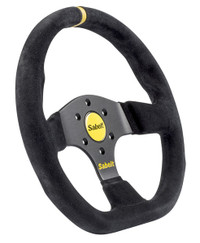Sabelt Flat Bottom Steering Wheel - Suede - 330mm