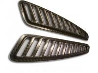Reverie Universal Bonnet Vent Grilles - Carbon Fiber, Pair, L232mm x W56mm