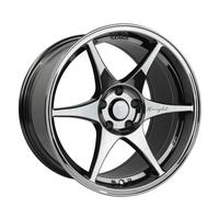 Stage Wheels Knight 18x9.5 +12mm 5x114.3 CB: 73.1 Color: Black Chrome