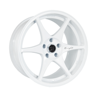 Stage Wheels Knight 18x10.5 +15mm 5x114.3 CB: 73.1 Color: White