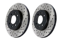 StopTech 02/94-98 Nissan 240SX SportStop Slotted & Drilled Rear Right Rotor