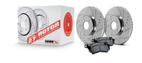 Hawk Performance 1994 Nissan 240SX Sector 27 Rotors w/ Ceramic Brake Pads - Kit
