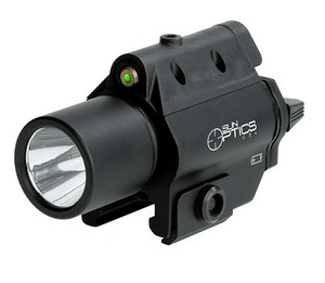 3w 250 Lumen Compact Clear Light Green Laser/Strobe - CLF-CSG