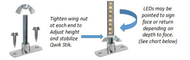 Principal LED Qwik Stik Adjustable Mounting Brackets