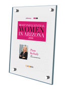 "AZ Business / AZRE magazine 2018 Most Influential Women Acrylic Wall Plaque Style B (with photo) Size is 11"" x 16.5"""
