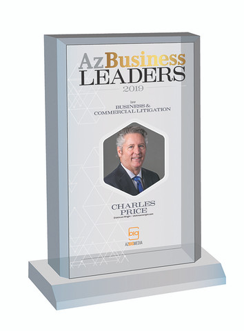Az Business Leaders 2019 Desk-top Marquee Plaque with photo - Style C