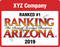 The 2019 Ranking AZ 2019 digital emblem is the perfect component to your social media, email signature line, LinkedIn profile, and/or your company website!  Emblem comes with your company name and Ranked #1 or Ranked Top Ten depending on where you placed for 2019.  If you would like something other than Ranked #1 or Ranked Top Ten on the emblem, (i.e. Ranked Top Five)  please state that in the general instructions/comment box at check-out.  Or if you prefer, contact Sara Fregapane @ (602)424-8838. Digital emblems will be emailed to you within 48 hours.