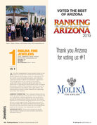 """Cover of Ranking magazine with modified page (2-10 companies will not be listed on the modified page).  Your logo will be on the modified page along with the words """"Thank You Arizona for voting us #1"""".  Please email a high resolution of your logo to Sara@azbigmedia.com.  Wording on the modified page can also be customized.  Either contact Sara Fregapane at 602-424-8838 or state what you would like in the general instruction/comment box at check-out.     Pricing: Minimum of 100 must be ordered  100          $165.00 150          $177.00 200          $193.00 250          $203.00 500          $260.00 750          $312.00 1000  $365.00 1500  $473.00"""